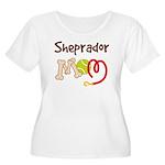 Sheprador Dog Mom Women's Plus Size Scoop Neck T-S