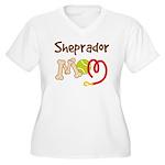 Sheprador Dog Mom Women's Plus Size V-Neck T-Shirt