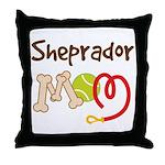 Sheprador Dog Mom Throw Pillow