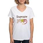 Sheprador Dog Mom Women's V-Neck T-Shirt