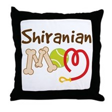 Shiranian Dog Mom Throw Pillow