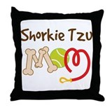 Shorkie Tzu Dog Mom Throw Pillow