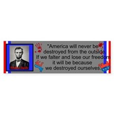 Destroy Ourselves Bumper Sticker
