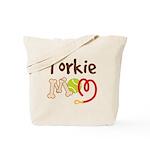 Torkie Dog Mom Tote Bag
