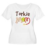 Torkie Dog Mom Women's Plus Size Scoop Neck T-Shir