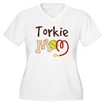 Torkie Dog Mom Women's Plus Size V-Neck T-Shirt