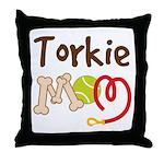 Torkie Dog Mom Throw Pillow