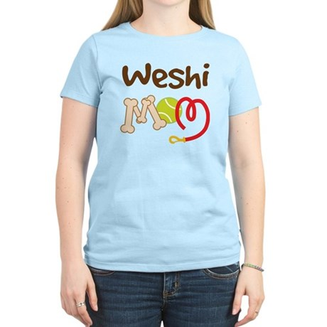 Weshi Dog Mom Women's Light T-Shirt