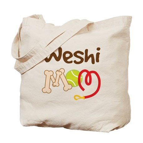 Weshi Dog Mom Tote Bag