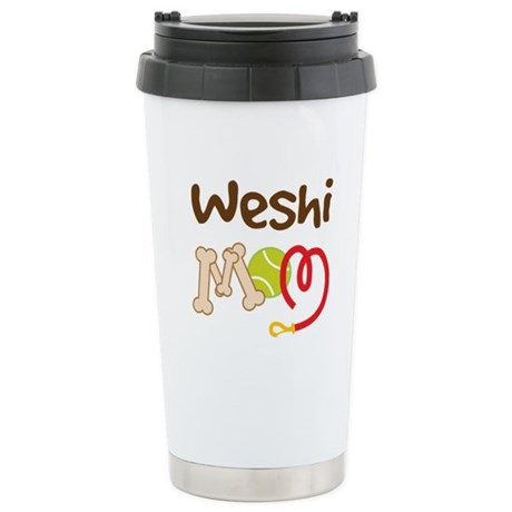 Weshi Dog Mom Ceramic Travel Mug