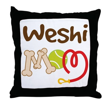 Weshi Dog Mom Throw Pillow