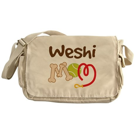 Weshi Dog Mom Messenger Bag