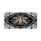 Come Holy Spirit Prayer Mosaic Aluminum License Pl