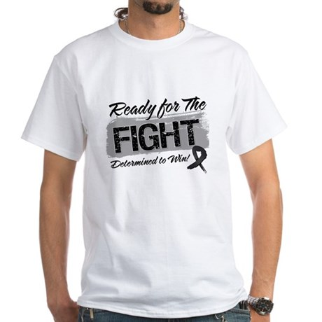 Ready Fight Melanoma White T-Shirt