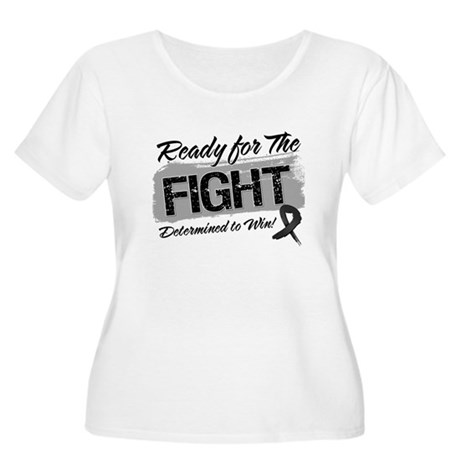Ready Fight Melanoma Women's Plus Size Scoop Neck