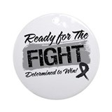 Ready Fight Melanoma Ornament (Round)
