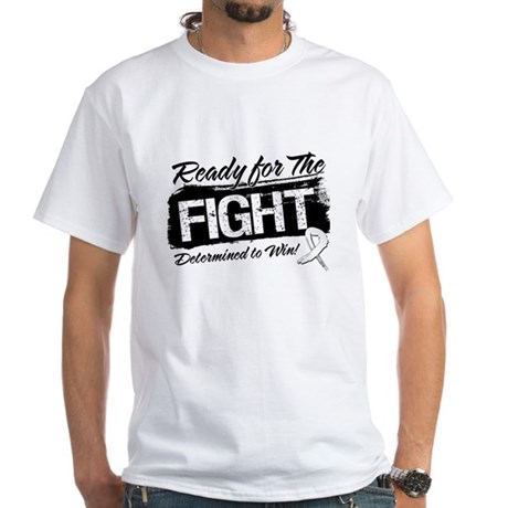 Ready Fight Mesothelioma White T-Shirt