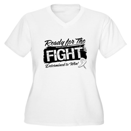 Ready Fight Mesothelioma Women's Plus Size V-Neck