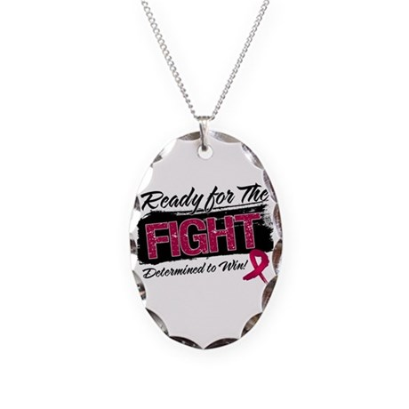 Ready Fight Multiple Myeloma Necklace Oval Charm