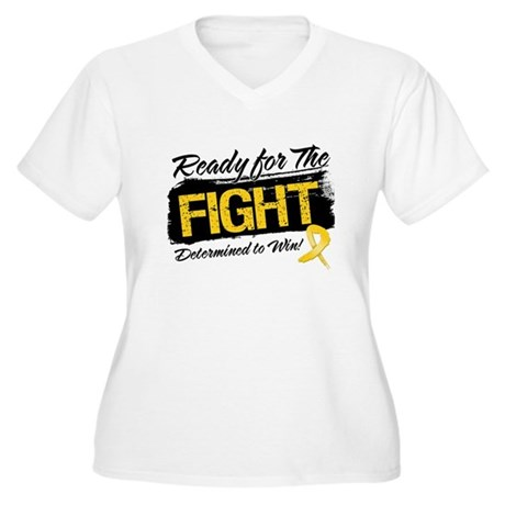 Ready Fight Neuroblastoma Women's Plus Size V-Neck