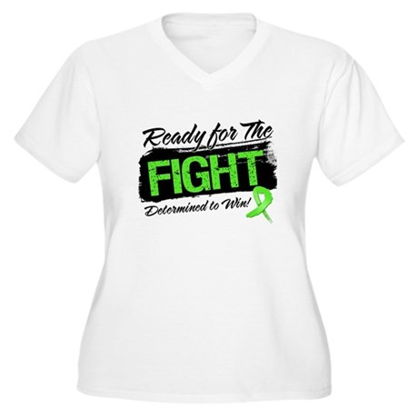 Ready Fight Non-Hodgkins Women's Plus Size V-Neck 