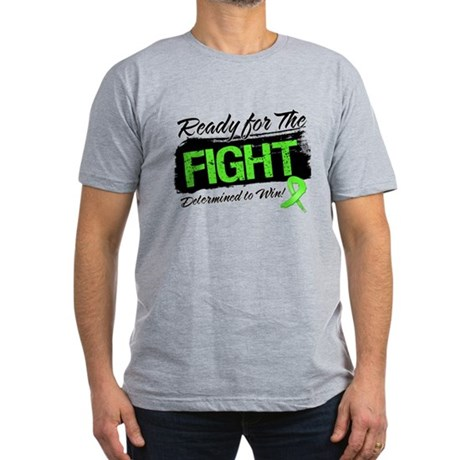 Ready Fight Non-Hodgkins Men's Fitted T-Shirt (dar