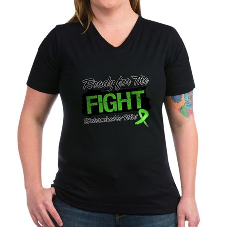 Ready Fight Non-Hodgkins Women's V-Neck Dark T-Shi