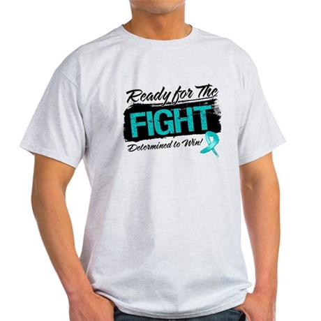 Ready Fight Ovarian Cancer Light T-Shirt