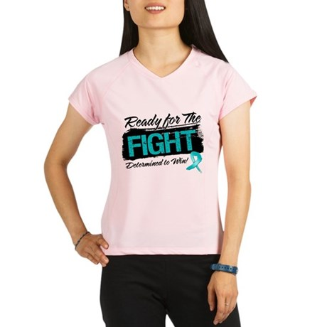 Ready Fight Ovarian Cancer Performance Dry T-Shirt