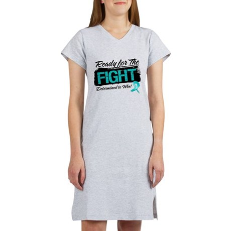 Ready Fight Ovarian Cancer Women's Nightshirt