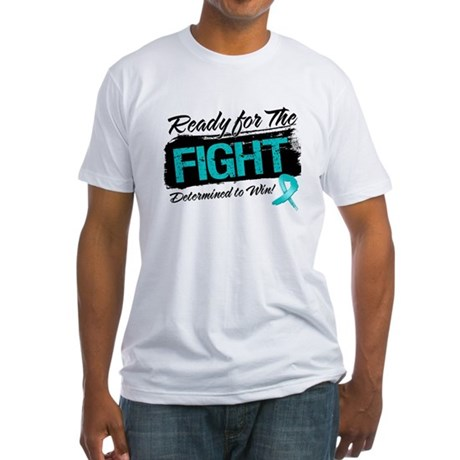 Ready Fight Ovarian Cancer Fitted T-Shirt