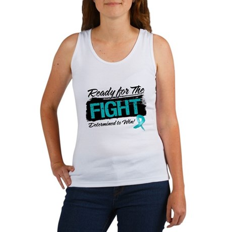 Ready Fight Ovarian Cancer Women's Tank Top