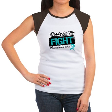 Ready Fight Ovarian Cancer Women's Cap Sleeve T-Sh