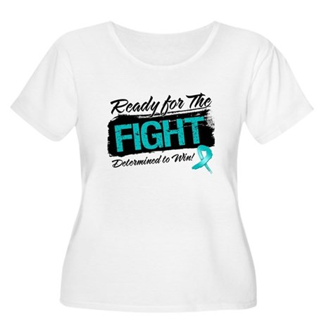 Ready Fight Ovarian Cancer Women's Plus Size Scoop