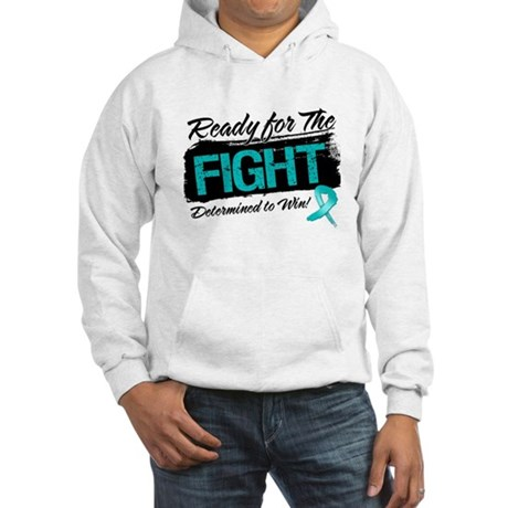 Ready Fight Ovarian Cancer Hooded Sweatshirt