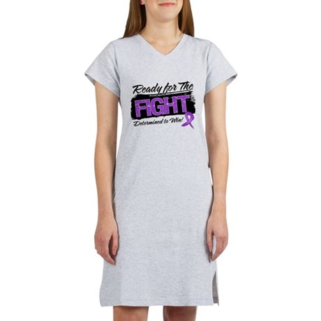 Ready Fight Pancreatic Cancer Women's Nightshirt