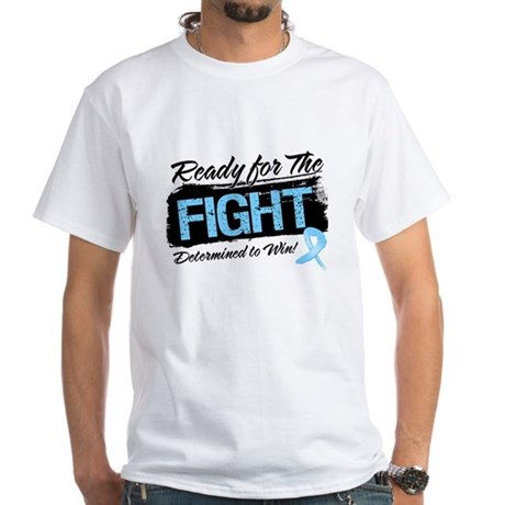 Ready Fight Prostate Cancer White T-Shirt