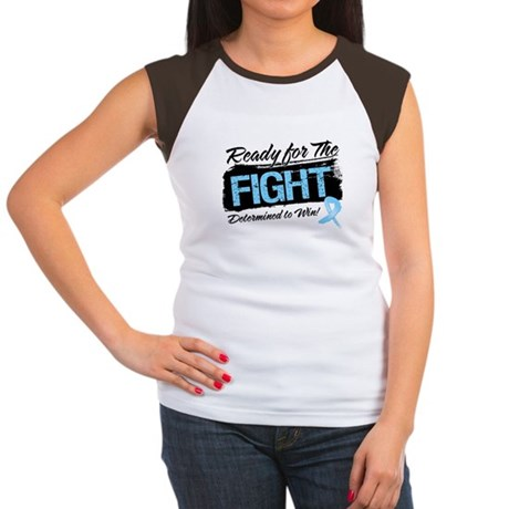 Ready Fight Prostate Cancer Women's Cap Sleeve T-S