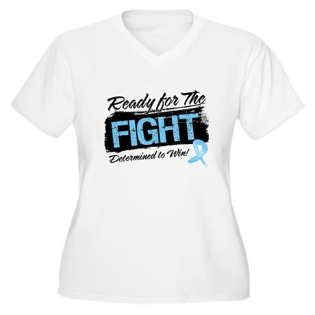 Ready Fight Prostate Cancer Women's Plus Size V-Ne
