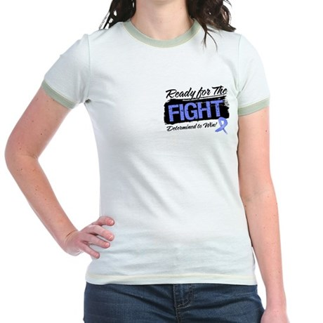 Ready Fight Stomach Cancer Jr. Ringer T-Shirt