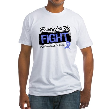 Ready Fight Stomach Cancer Fitted T-Shirt