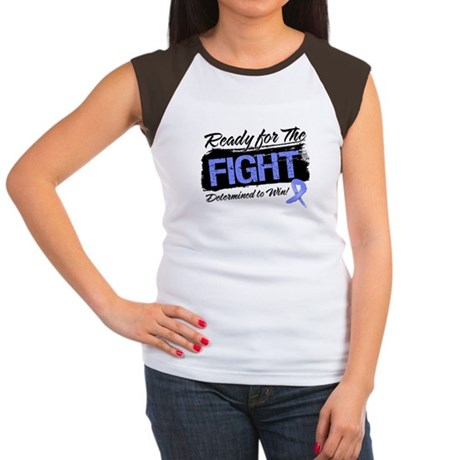 Ready Fight Stomach Cancer Women's Cap Sleeve T-Sh