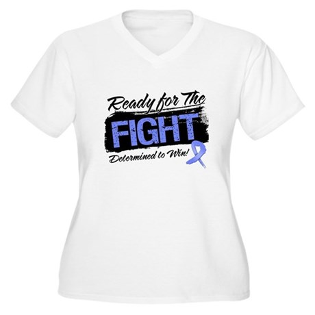 Ready Fight Stomach Cancer Women's Plus Size V-Nec