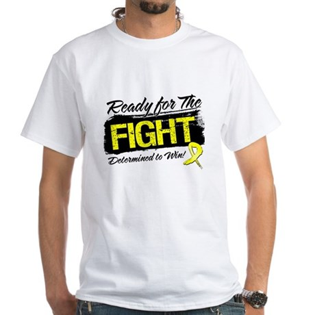 Ready Fight Testicular Cancer White T-Shirt