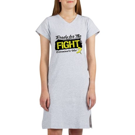 Ready Fight Testicular Cancer Women's Nightshirt