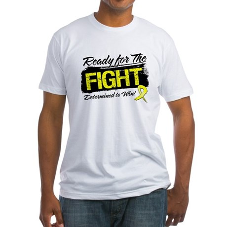 Ready Fight Testicular Cancer Fitted T-Shirt