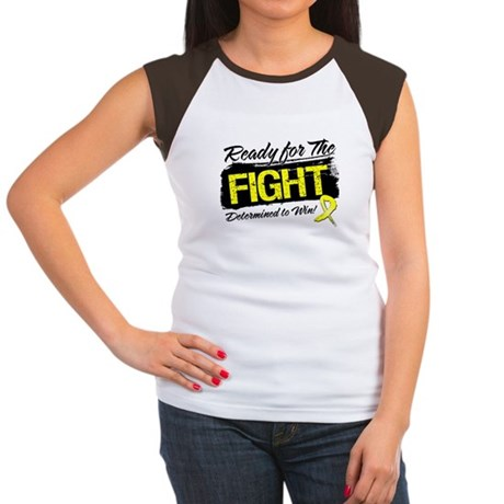 Ready Fight Testicular Cancer Women's Cap Sleeve T