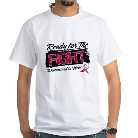 Ready Fight Throat Cancer White T-Shirt