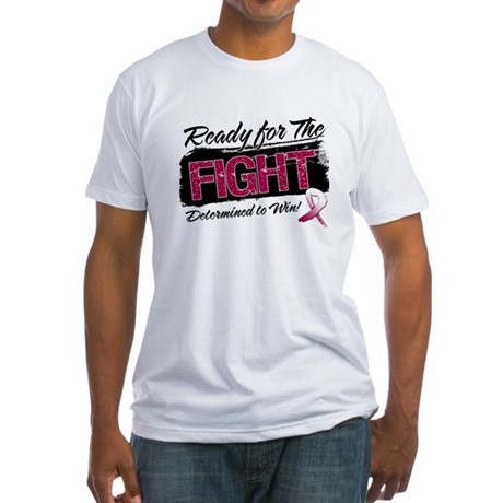 Ready Fight Throat Cancer Fitted T-Shirt