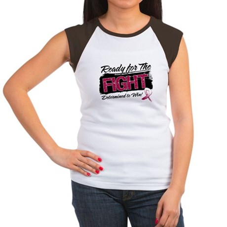 Ready Fight Throat Cancer Women's Cap Sleeve T-Shi